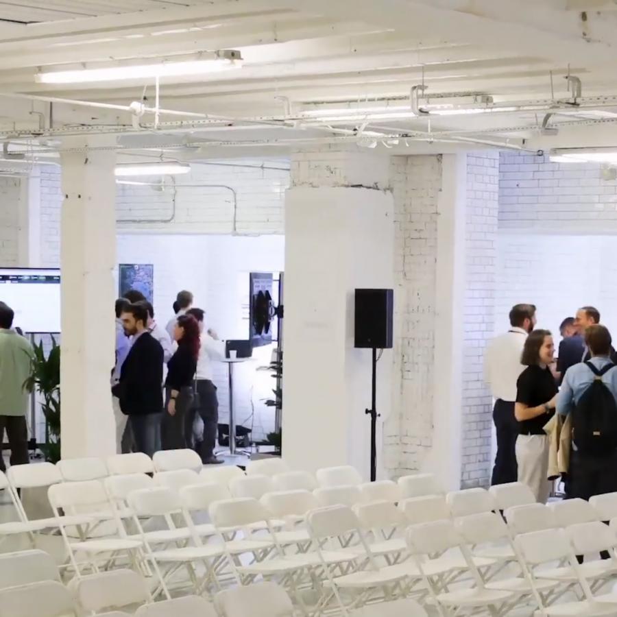 modern conference set-up