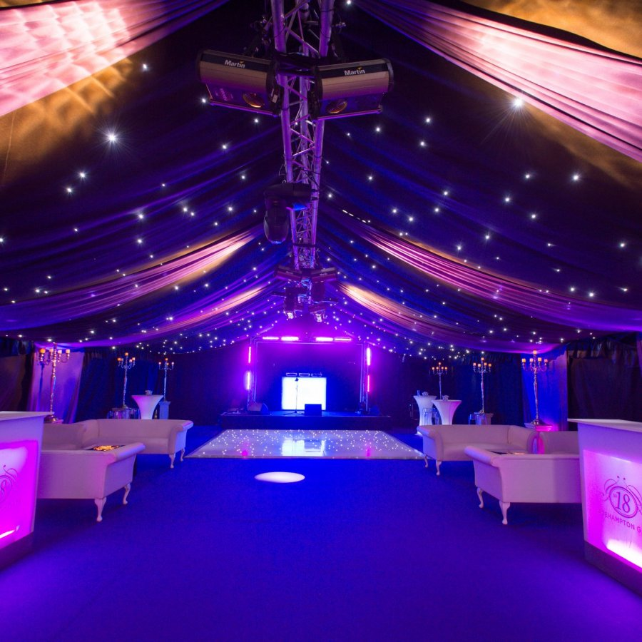 Party Marquee hire with starcloth