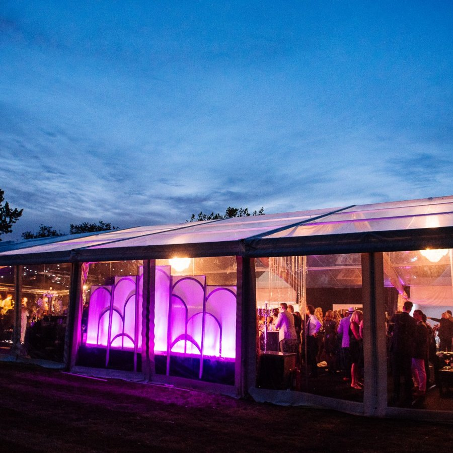 Party Marquee with clear walls